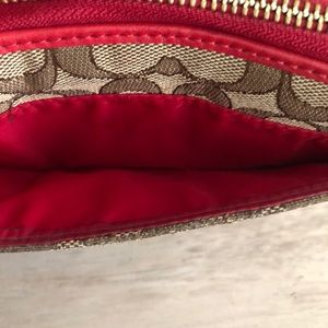 Coach Bags - Red Coach wallet